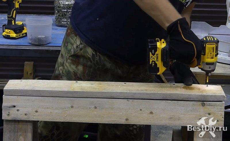 Как сделать строительного козла из досок