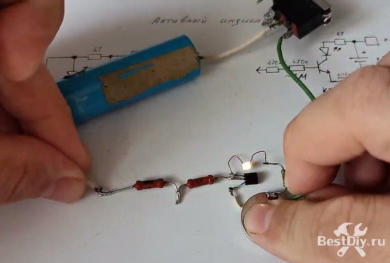 Универсальная активная индикаторная отвёртка своими руками