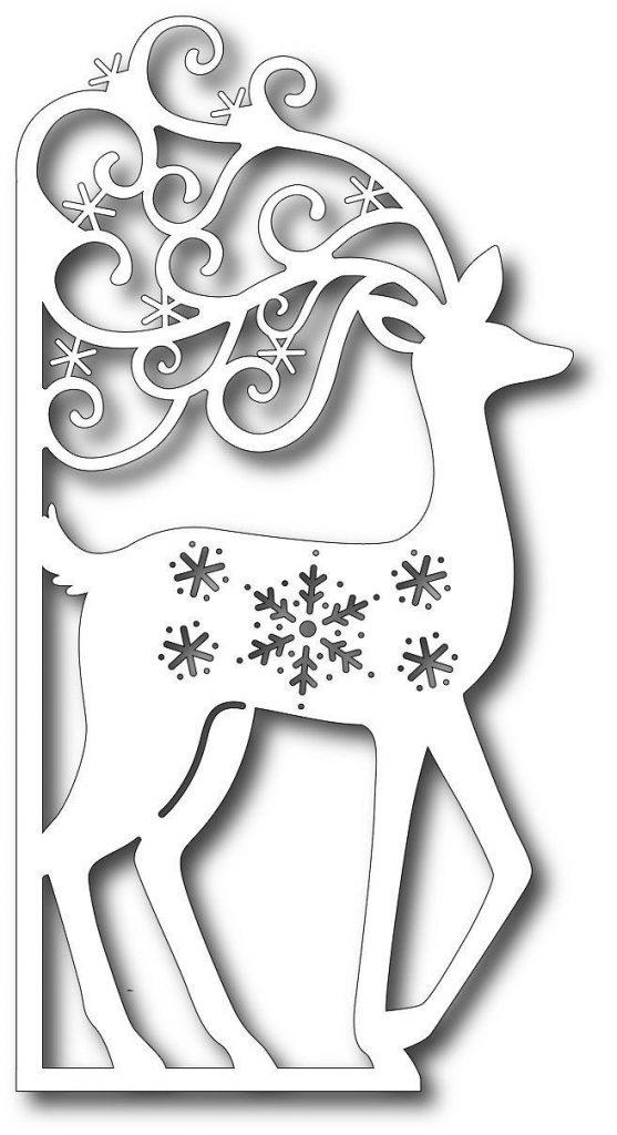 Новогодние вытынанки, северный олень, шаблон