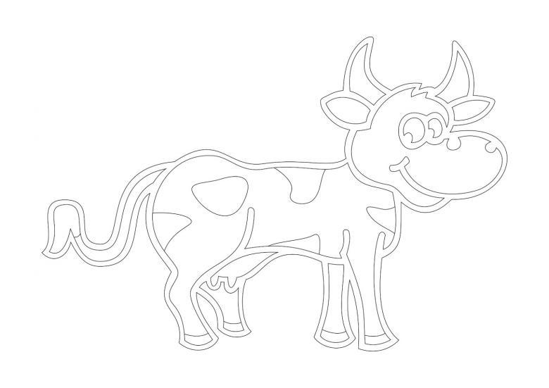 Новогодние вытынанки, бык, шаблон