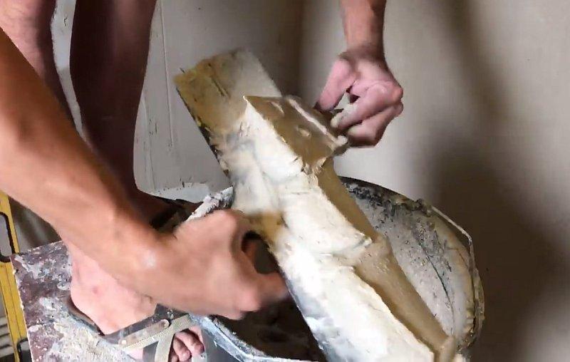 Имитация дорогой плитки из гипсовой штукатурки своими руками