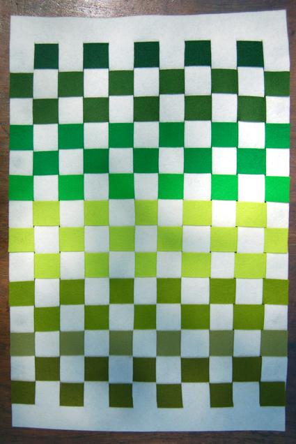 Сервировочный коврик из фетра своими руками