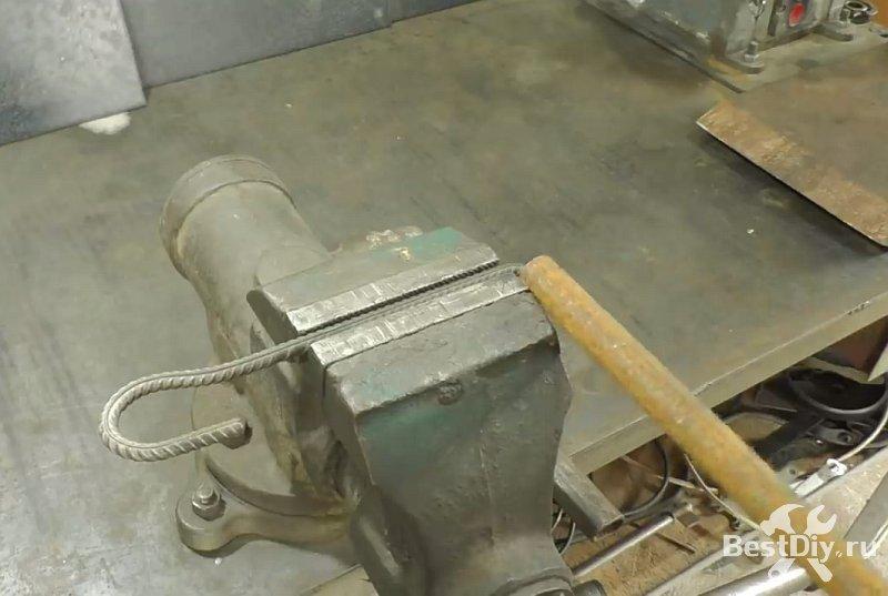 Гаечный ключ с трещоткой из арматуры и подшипника своими руками