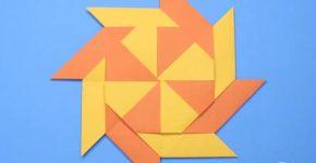 Вертушка трансформер из бумаги