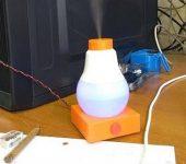 Настольный увлажнитель воздуха в виде лампочки своими руками