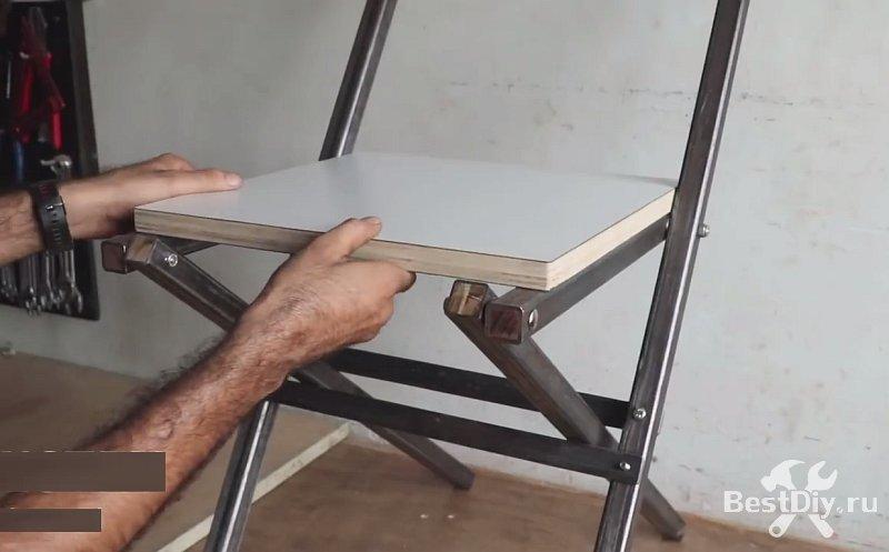 Складной стул для дачи из профильной трубы своими руками