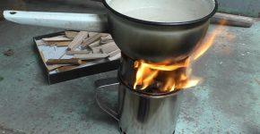 Мини печка из кружек для походов своими руками